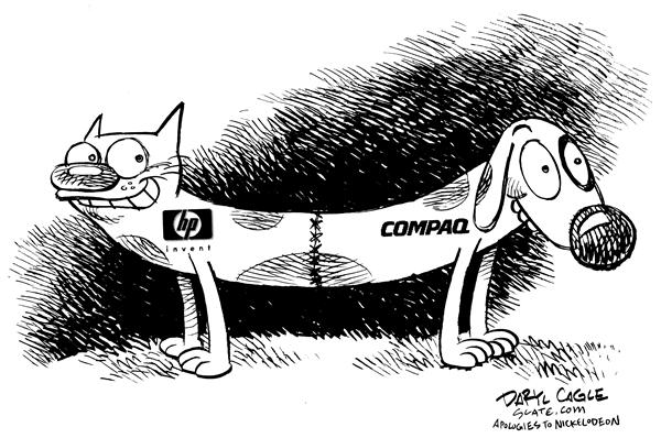 3661 600 HP Compaq Cat Dog cartoons