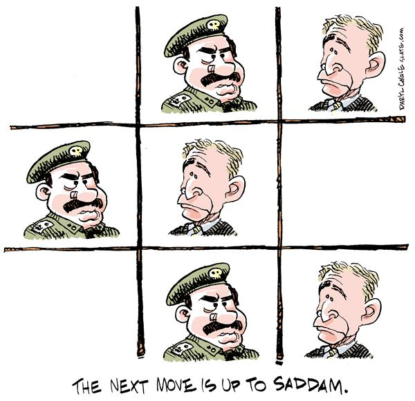 6344 600 Next Move is Up To Saddam cartoons