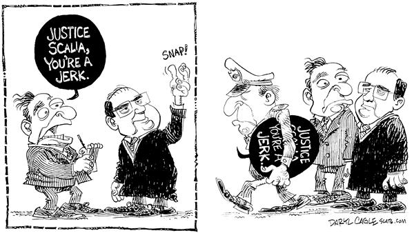 Daryl Cagle - MSNBC.com - Justice Scalia Balloon - English - Antonin,Scalia,Justice,Supreme Court