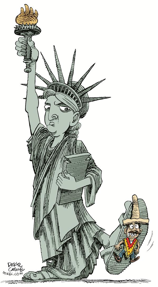 39249 600 Immigration and Liberty cartoons