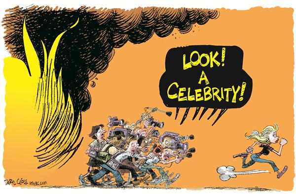 57726 600 Celebrity Fires and the Media cartoons