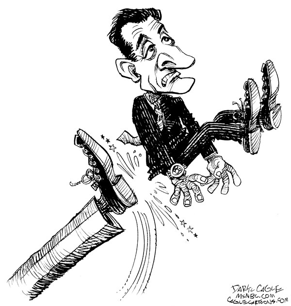 Daryl Cagle - MSNBC.com - Sarkozy Kicked Out - English - Nicolas Sarkozy,France,Hollande,election,president