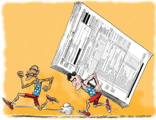 116364 600 Election Sprint and Romney Taxes cartoons