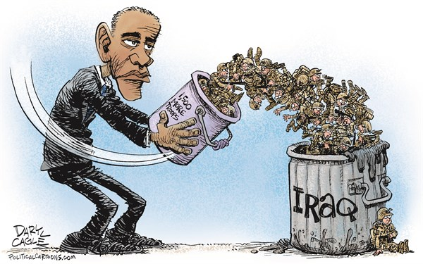 156082 600 Obama Sends More Troops to Iraq cartoons