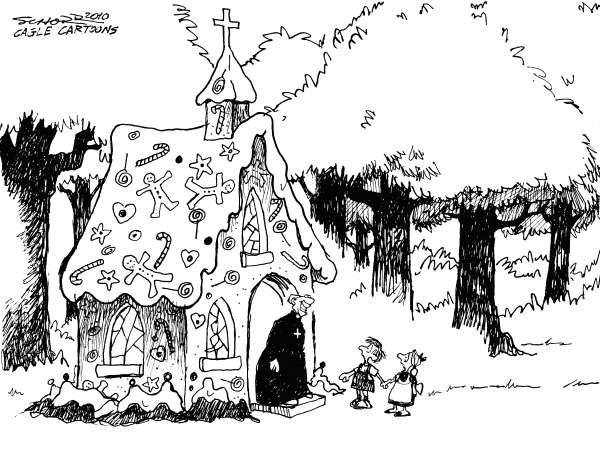 76042 600 Hansel and Gretel Meet the Church cartoons