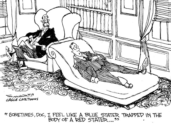 92444 600 Blue State Red State cartoons