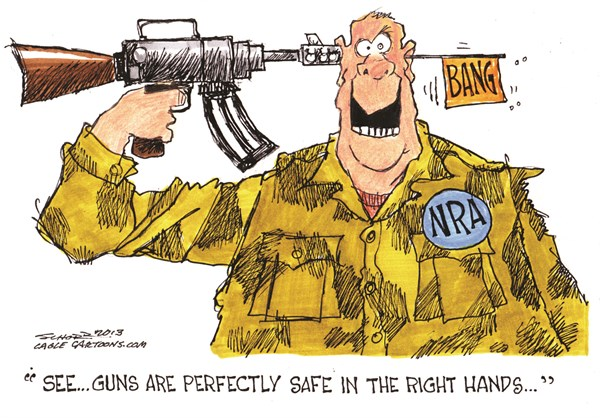 129850 600 Guns are Safe cartoons
