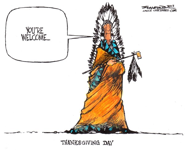 Bill Schorr - Cagle Cartoons - thanksgiving - English - thanksgiving, native americans