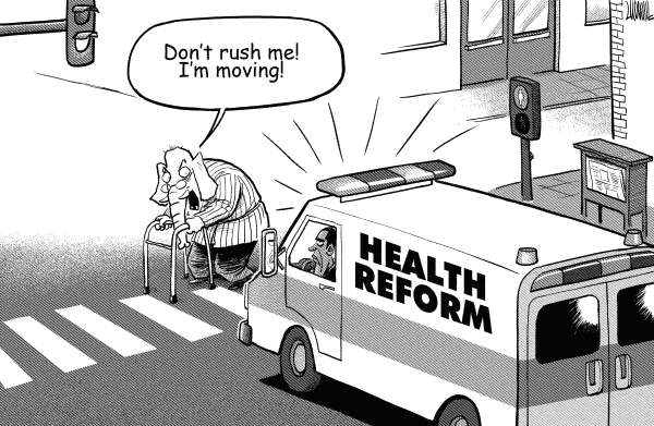 Luojie - China Daily, China - Obamas health reform - English - Obama,health reform,republican,rush,ambulance,senior citizen