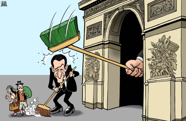 Luojie - China Daily, China - Sarkozy brings disgrace on himself - English - Sarkozy, France,protest,Gypsy,crackdown