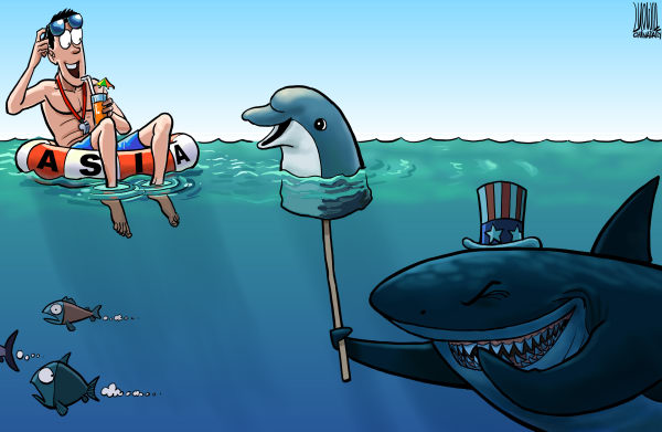 Luojie - China Daily, China - False appearance - English - false appearance,US,shark,dolphin,Asia,sea,lifeguard