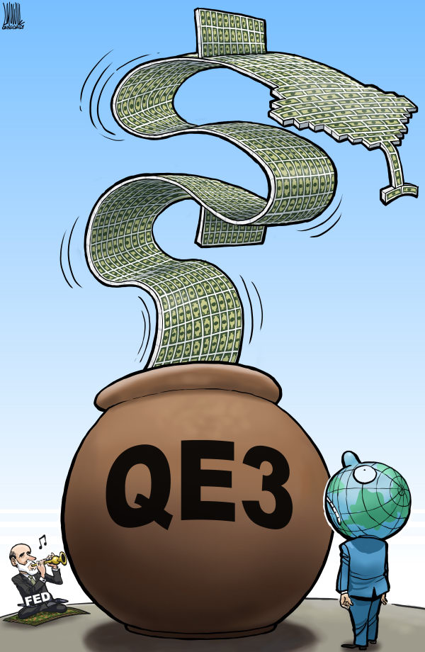 Luojie - China Daily, China - Snake Charmer - English - Snake Charmer,US,FED,QE3,world,economy