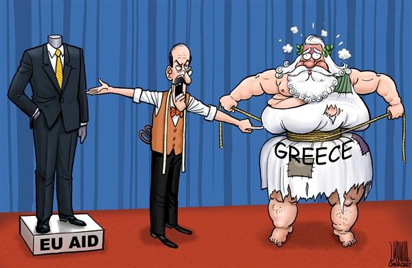 Luojie - China Daily, China - Greece and EU aid - English - EU,aid,suit,fat,lose weight,tailor,Greece