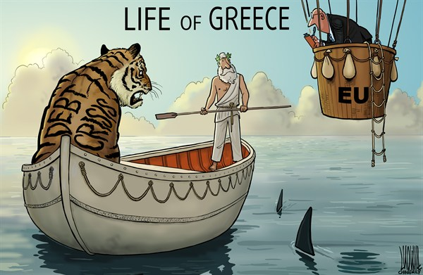 Luojie - China Daily, China - Life of Greece - English - Life of Pi,Greece,debt crisis,EU