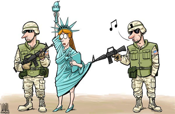 Luojie - China Daily, China - Sexual assault - English - Sexual assault,US army,military,Statue of Liberty