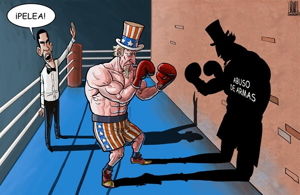 Luojie - China Daily, China - Encuentro Imposible - Spanish - Box,boxeo,encuentro,pelea,imposible,USA,armas,abuso,Obama