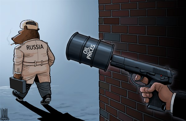 silencer © Luojie,China Daily, China,gun,silencer,oil prices,the west,hit,Russia,economy