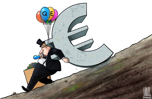 Be Of No Help © Luojie,China Daily, China,Be Of No Help,EU,economy,eruo zone,quantitative easing