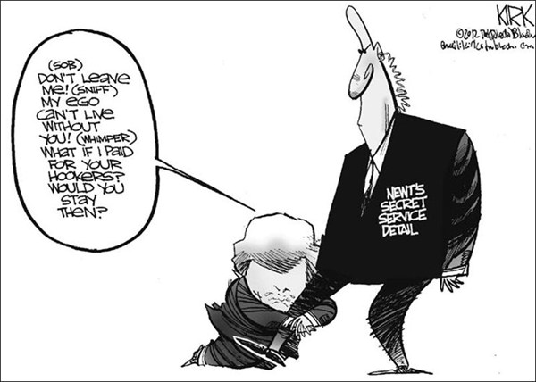 110718 600 Newts Secret Service cartoons