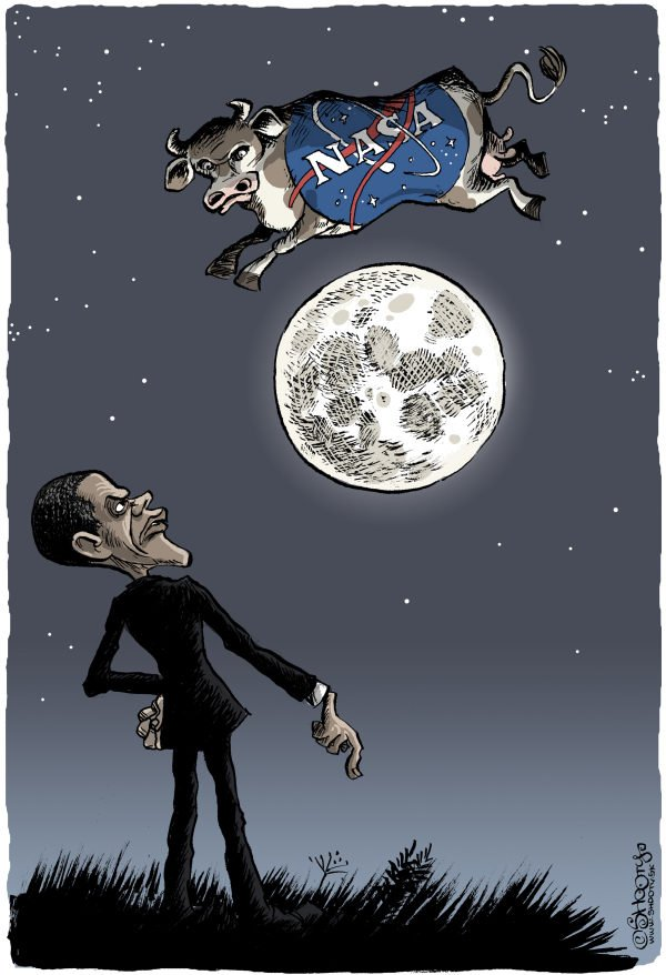 Martin Sutovec - Slovakia - Obama Vs NASA - English - 						Obama,NASA,cow,space program,moon