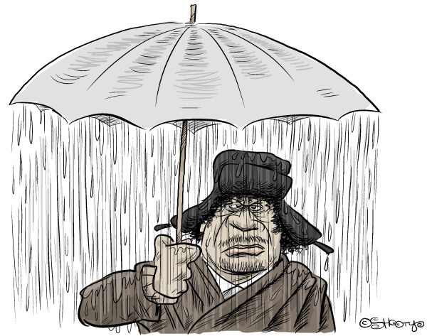 Martin Sutovec - Slovakia - Gaddafis Umbrella - English - 		Gaddafi,Libya,riots,revolution,umbrella