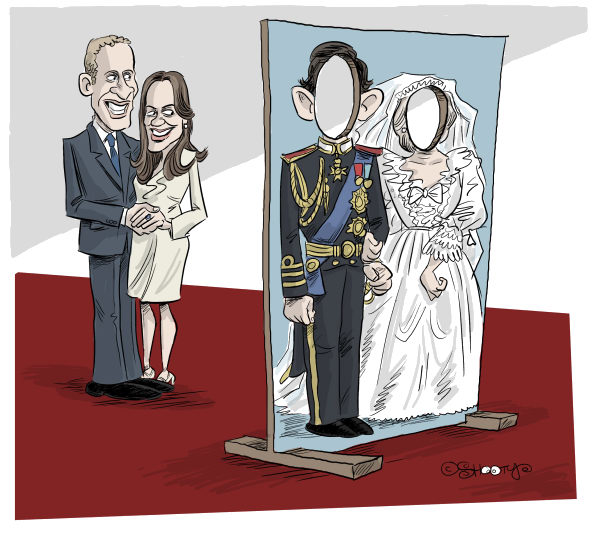 92146 600 The British Royal Wedding cartoons