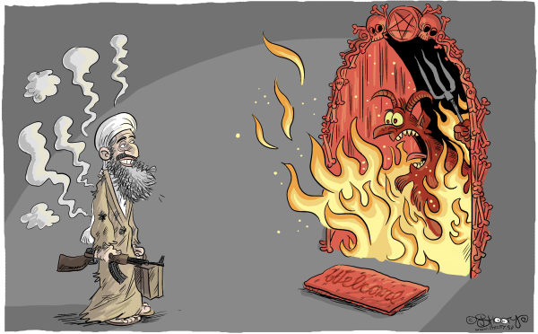 92506 600 Osama is going to Hell cartoons