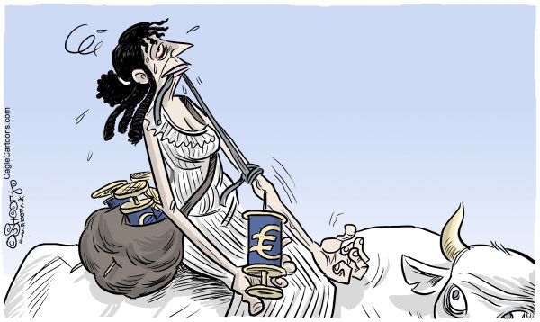 Martin Sutovec - Slovakia - Euro bailout - English - Euro, €, Europa, Europe, bailout, economy, debt, spending, market, bailouts, jobs, employment, government, money addiction