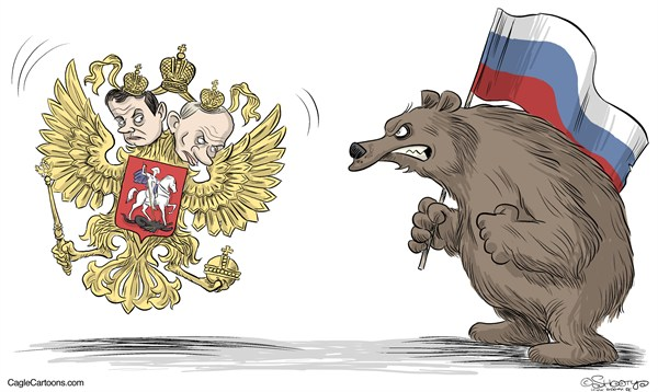 103660 600 Putin and Medvedev cartoons