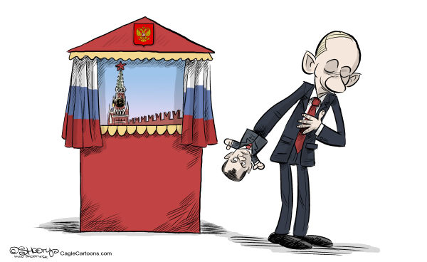 Martin Sutovec - Slovakia - Putin`s Theatre - English - Vladimir Putin, Dmitry Medvedev, puppet theatre, Russia, Russian presidential election