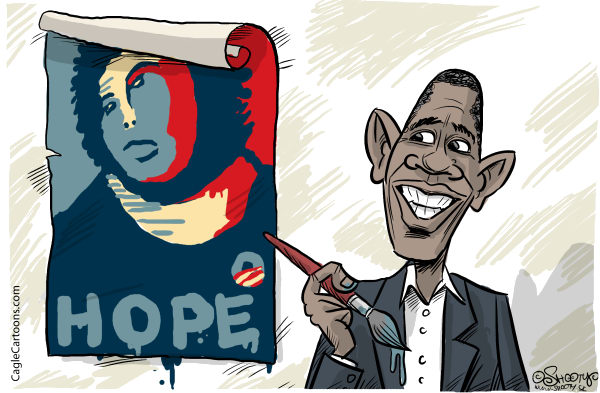 Martin Sutovec - Slovakia - Hope restoration - English - Barack Obama, United States presidential election 2012,Cecilia Gimenez, Hope poster, campaign