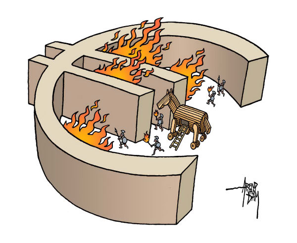 77698 600 Europe and Greece Trojan horse cartoons