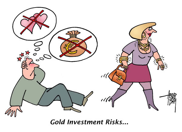 84988 600 Gold Investment Risks cartoons