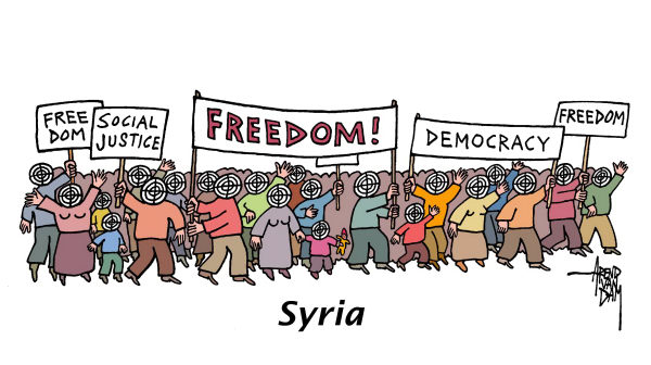 92311 600 Syria opposition is target cartoons