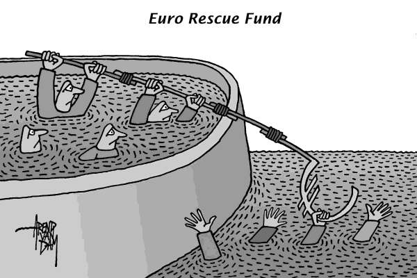 Arend Van Dam - politicalcartoons.com - Euro Rescue Fund - English - Europe, euro, ESM, rescue fund