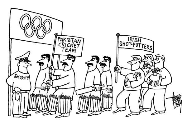 Arend Van Dam - politicalcartoons.com - Olympic Games Security - English - Olympic Games, London 2012, security