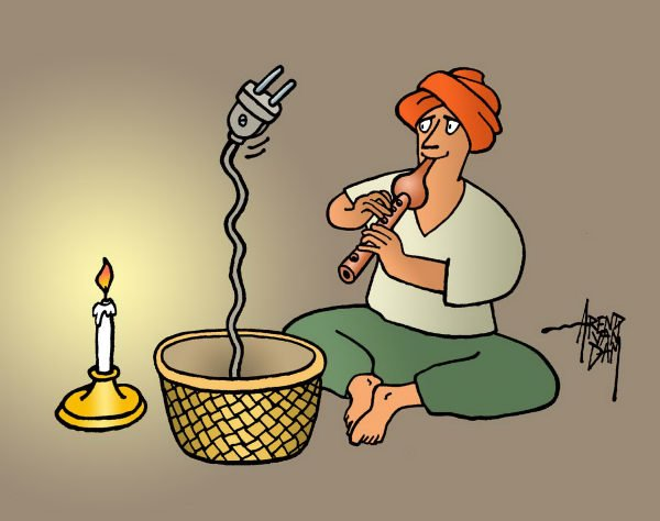 Arend Van Dam - politicalcartoons.com - India Power Outage - English - India, power outage, electricity, India blackout, power failure, huge power cut, massive power outage, energy