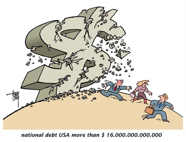 124860 600 national debt USA cartoons