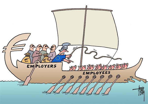 133296 600 euro employees cartoons