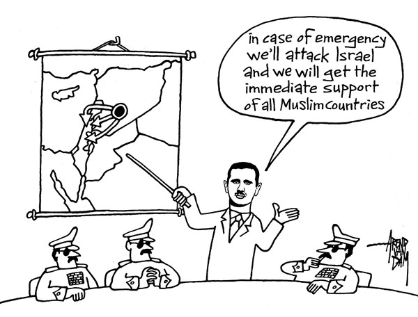 Arend Van Dam - politicalcartoons.com - Syria and Israel - English - Syria, Israel, MidEast