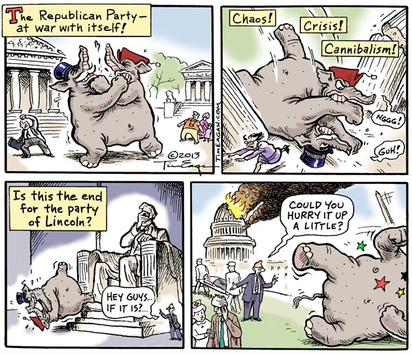 124873 600 Party of Lincoln cartoons