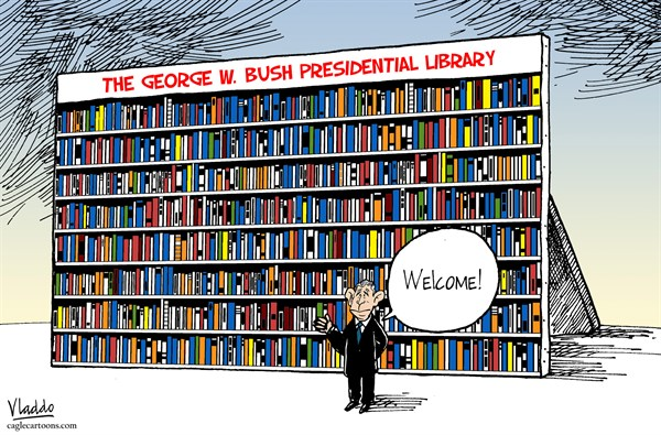 130933 600 Bush Library cartoons