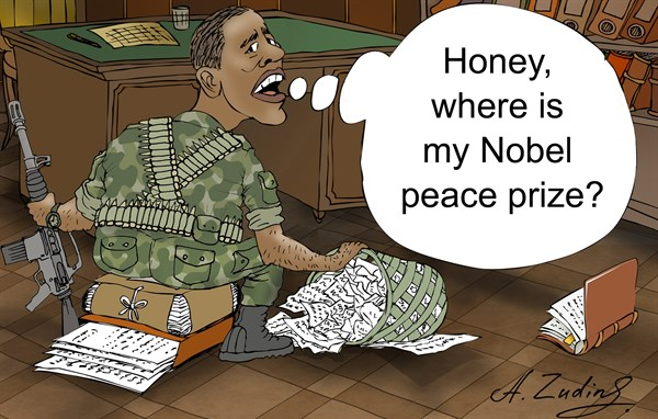 136907 600 Barack Obama and Nobel peace prize cartoons
