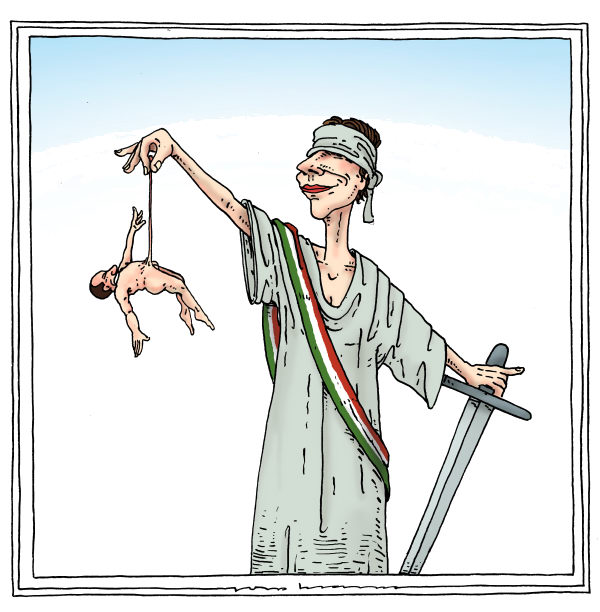 lady justitia © Joep Bertrams,The Netherlands,justice, berlusconi, trial, sex charges