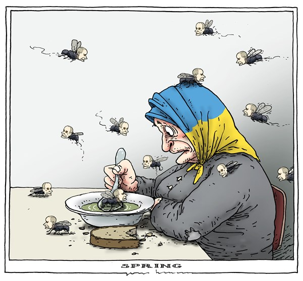 Joep Bertrams - The Netherlands - spring - English - ukraine, putin, spring, flies,