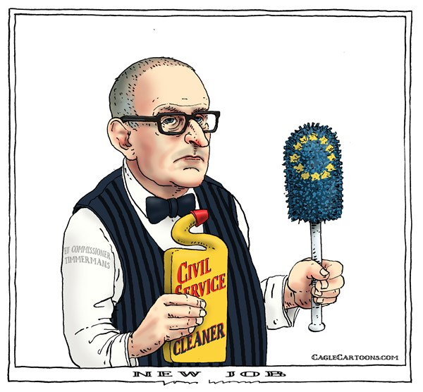 new job © Joep Bertrams,The Netherlands,eu, europe, commissioner, dutch, civil service, cleaner