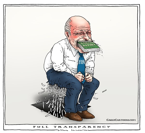 full transparency © Joep Bertrams,The Netherlands,fifa, soccer, blatter, garcia, report, corruption, transparency