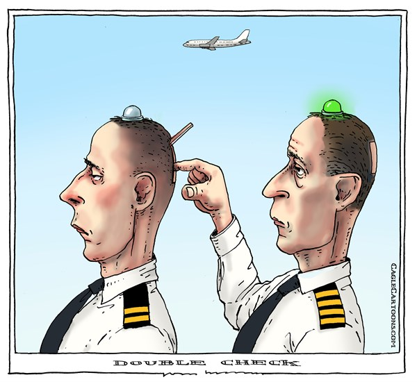double check © Joep Bertrams,The Netherlands,germanwings, check, double, head, switch, green light, security
