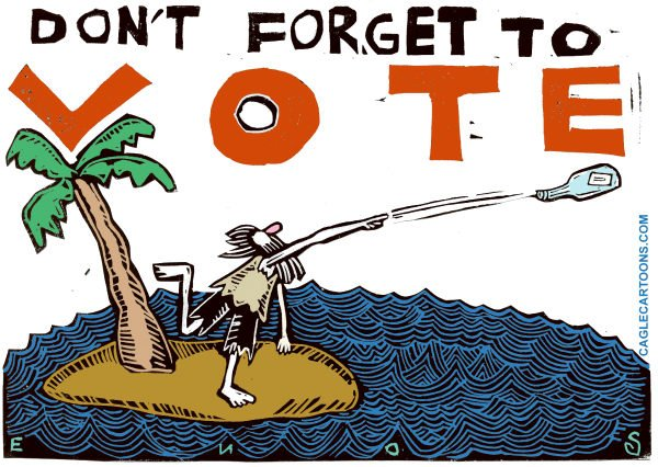 Randall Enos - Cagle Cartoons - Election Day - English - mid-term elections,election day