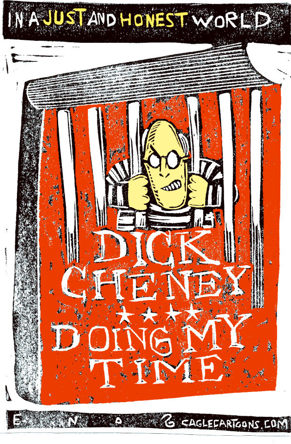 Cheneys New Book COLOR © Randall Enos,Cagle Cartoons,Dick Cheney,Cheneys book,In My Time,Vice-President Cheney